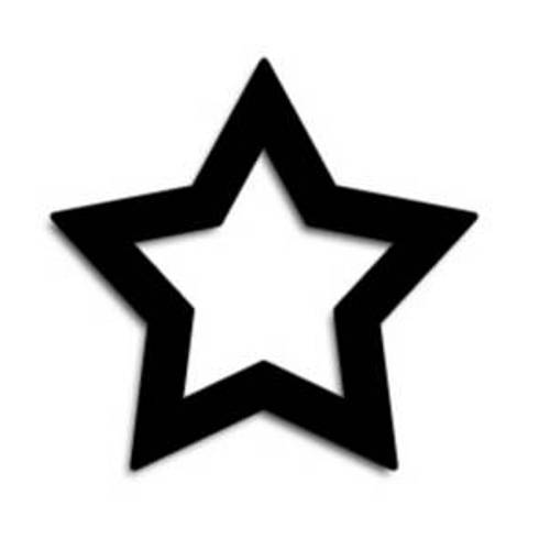 Black And White Star Clipart - Clipart Suggest