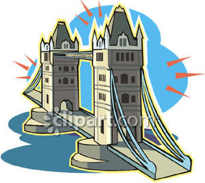 Tower Bridge In London   Royalty Free Clipart Picture