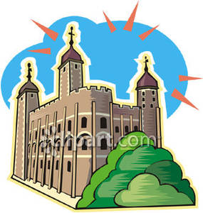 Tower Of London In England   Royalty Free Clipart Picture