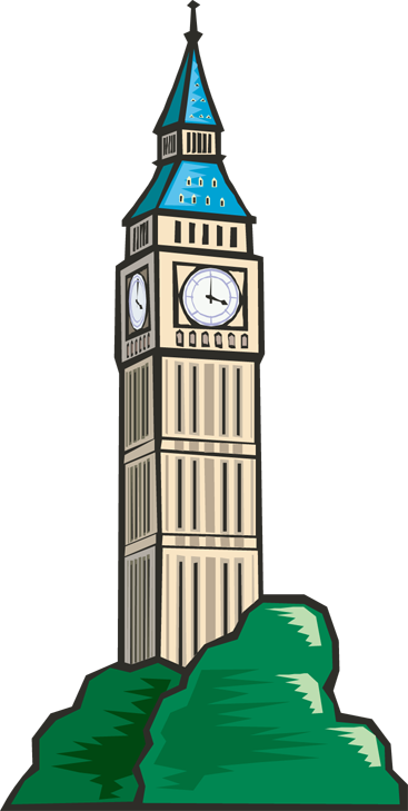 Town Council Clock Tower Clip Art 1042836 Png