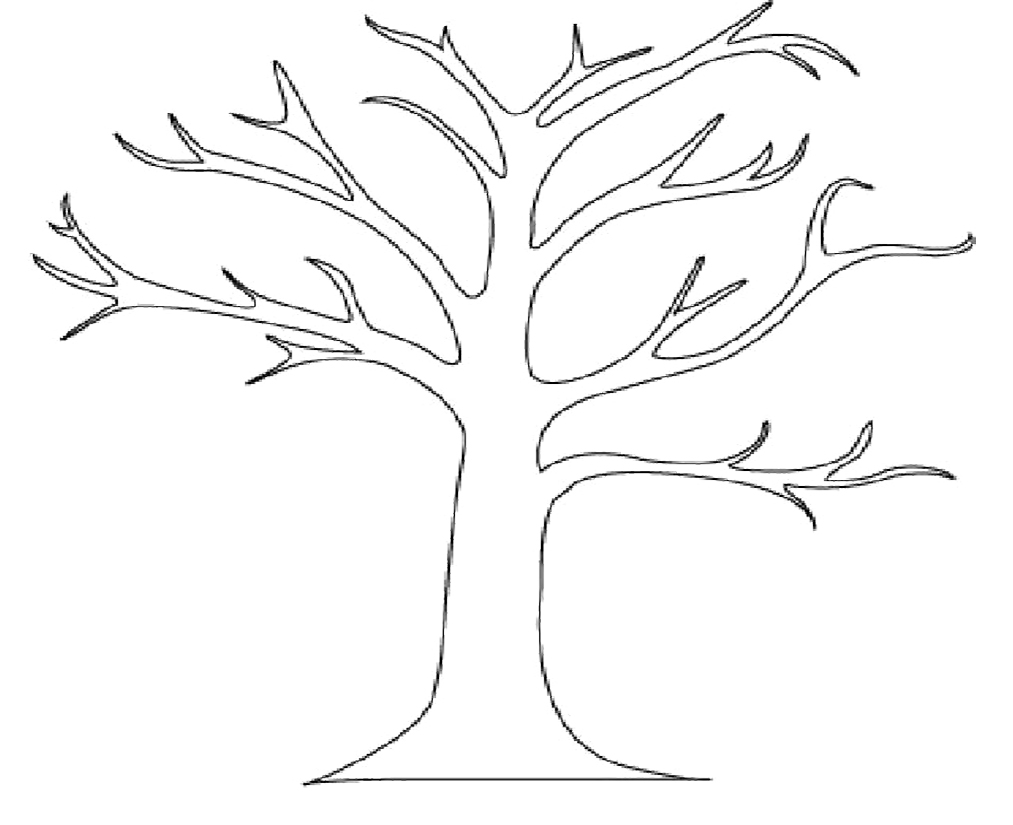 Tree Coloring Pages Tree Coloring Pages No Leaves   Kids Coloring
