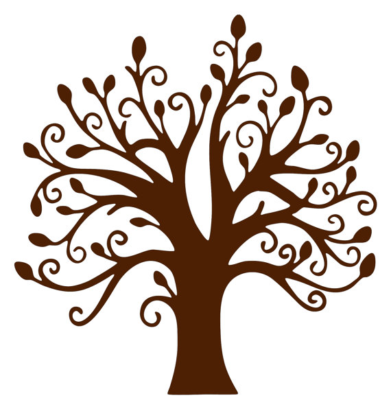 Tree Wall Art Branches And Leaves Vinyl 22 Inch Wall Decal Sticker