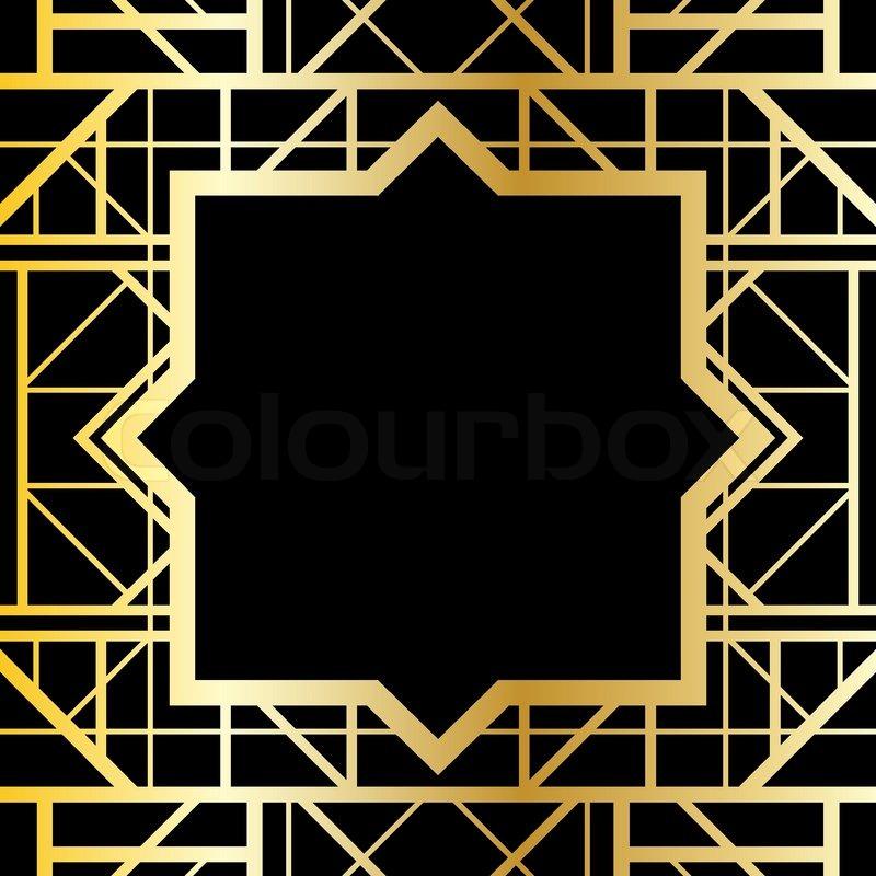 Art Deco Wedding Clipart