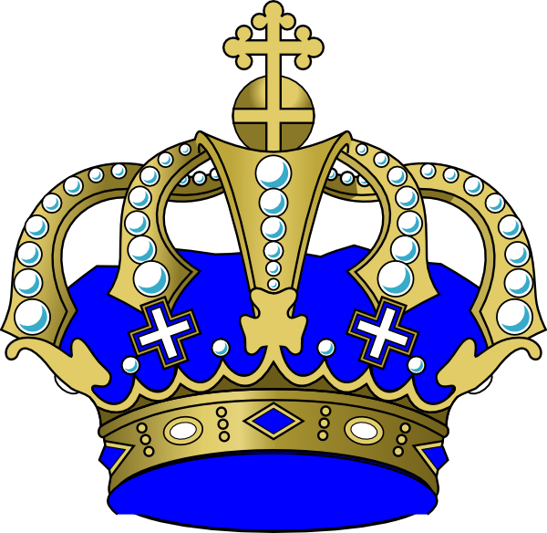 Blue Crown Clip Art At Clker Com   Vector Clip Art Online Royalty