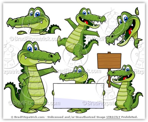 Cartoon Alligator Clip Art   Cute Alligator Mascot Stock Illustration