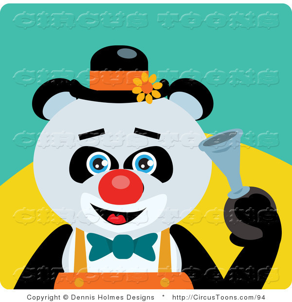 Cartoon Clown Honking A Horn Royalty Free Clip Art Image Pictures