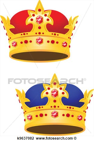 Clipart   Golden King Crown With Gems  Fotosearch   Search Clip Art