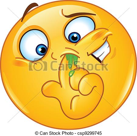 Clipart Vector Of Picking Nose Emoticon   Emoticon Picking His Nose
