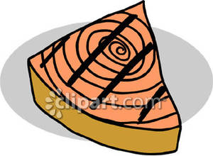 Cooked Salmon Cartoon Grilled Salmon Fillet