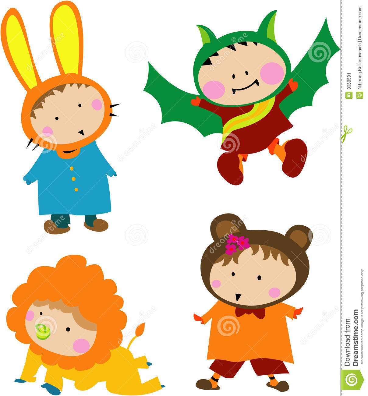 Cute Kid Costume Stock Image   Image  3368591