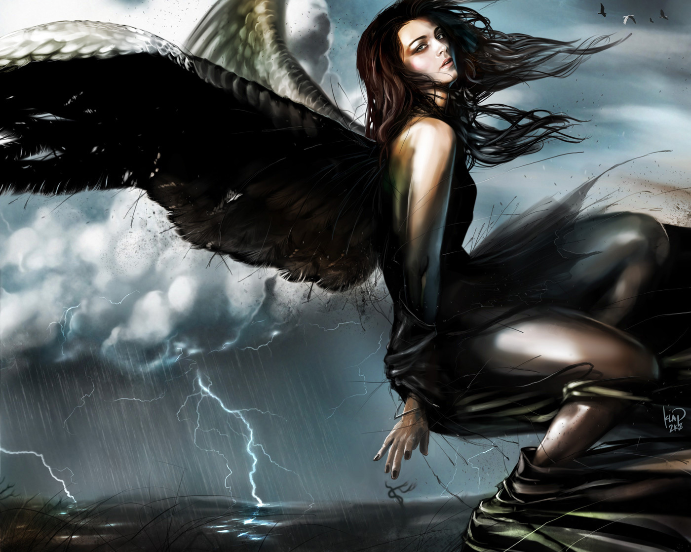 Gothic angel clipart clipart suggest - Gothic fallen angel pictures ...