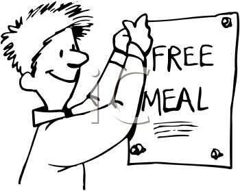Meal Poster At A Soup Kitchen   Royalty Free Clip Art Illustration