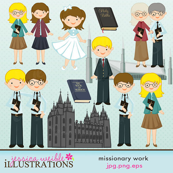 Missionary Work Cute Digital Clipart For Card Design Scrapbooking