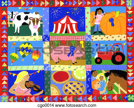 Montage Of County Fair Events And Animals Cgo0014   Search Clip Art