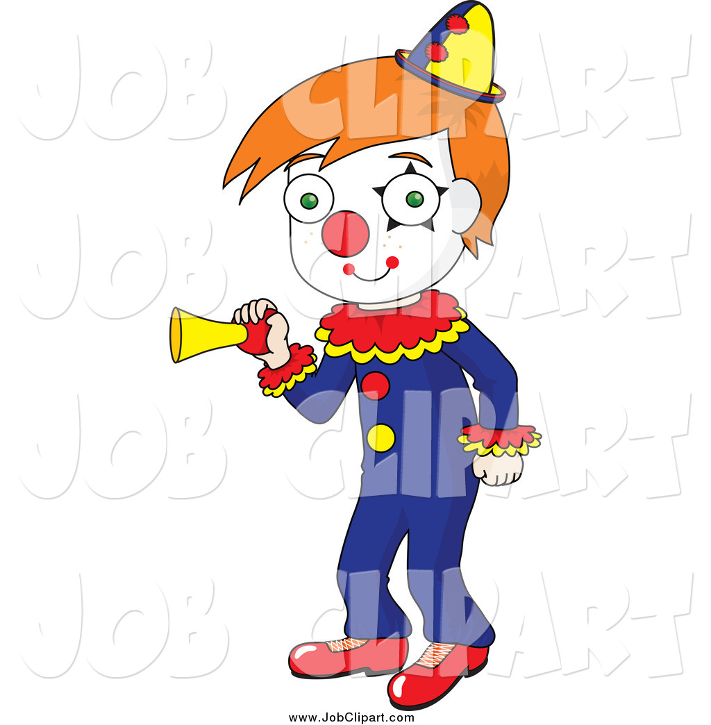 Pictures Cartoon Clown Honking A Horn Royalty Free Clip Art Image