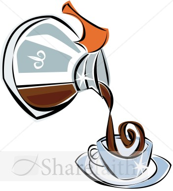 Pot Of Decaf Coffee   Coffee Hour Clipart