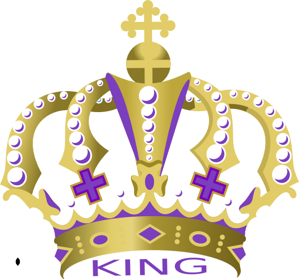 King painting crown