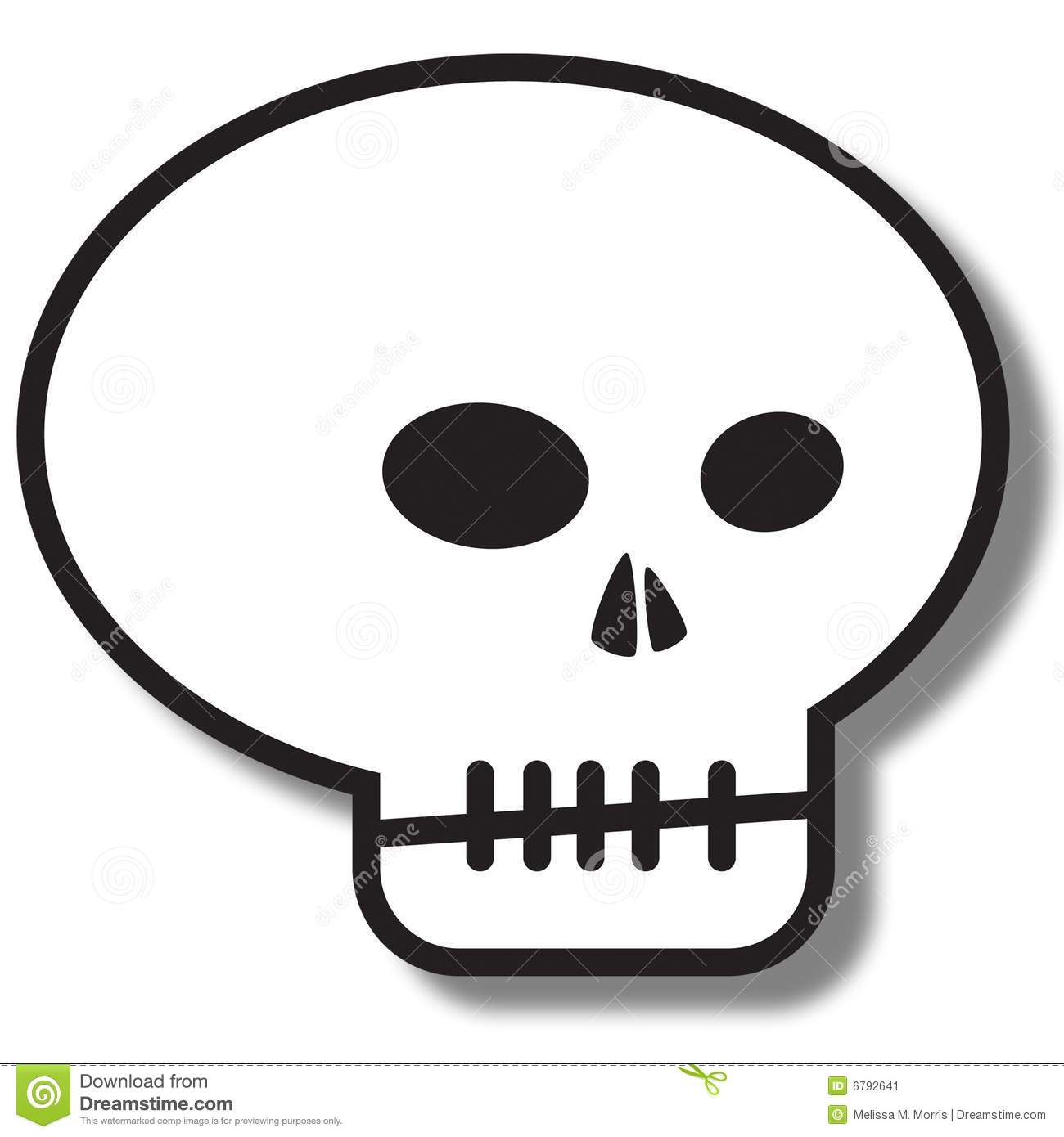 Simple Skull Clipart - Clipart Suggest