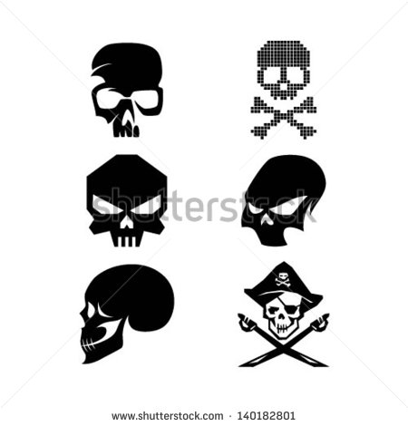 Simple Sugar Skull Outline Simple Skull Logo Mixed - Clipart Kid