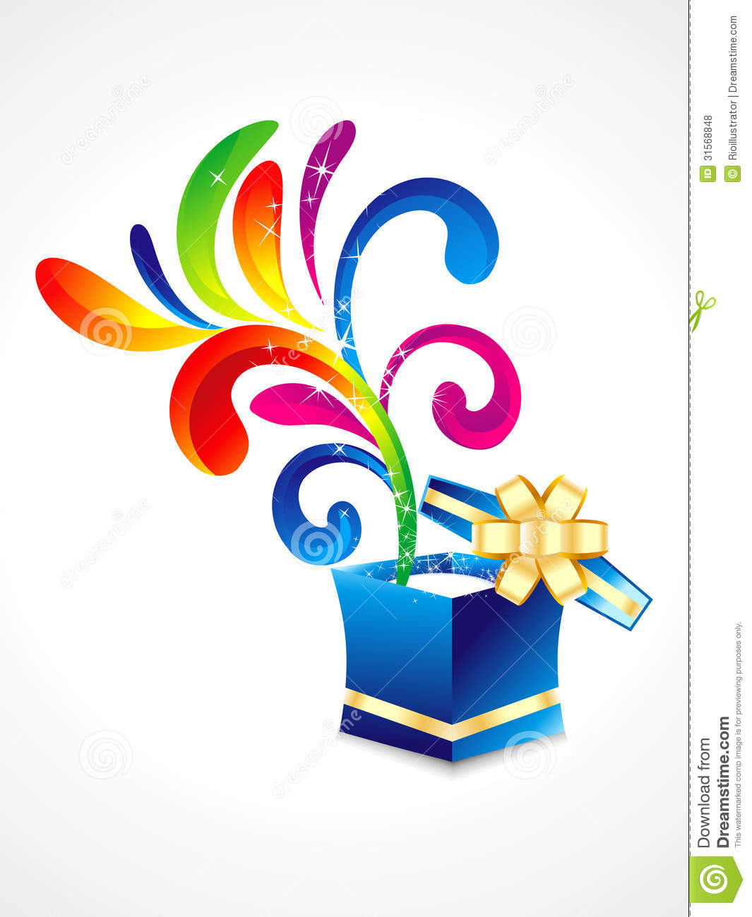 Abstract Colorful Floral With Magic Box Royalty Free Stock Photos