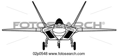Clip Art   F 22 Front View  Fotosearch   Search Clipart Illustration