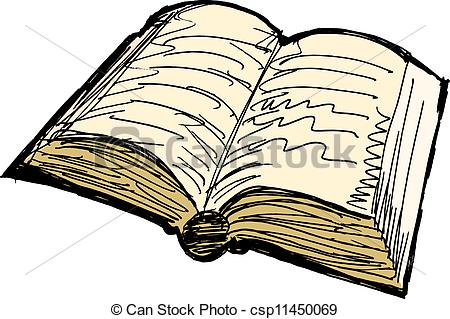 Clip Art Vector Of Old Book Csp11450069   Search Clipart Illustration