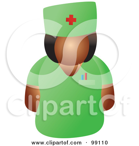 Doctor Green 1 Royalty Free Clipart Illustration Female Doctor Green