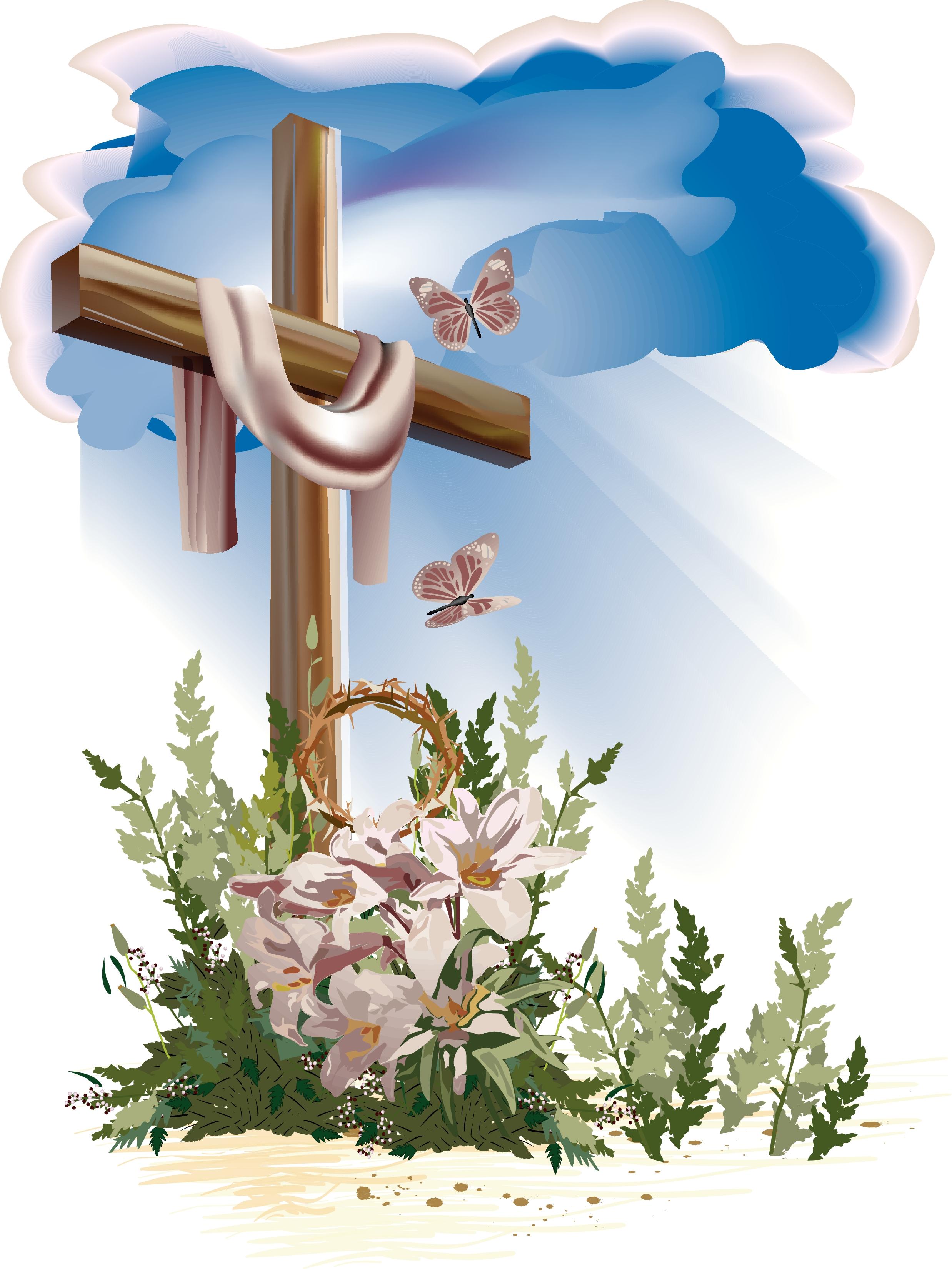 Easter Cross Clipart - Clipart Kid