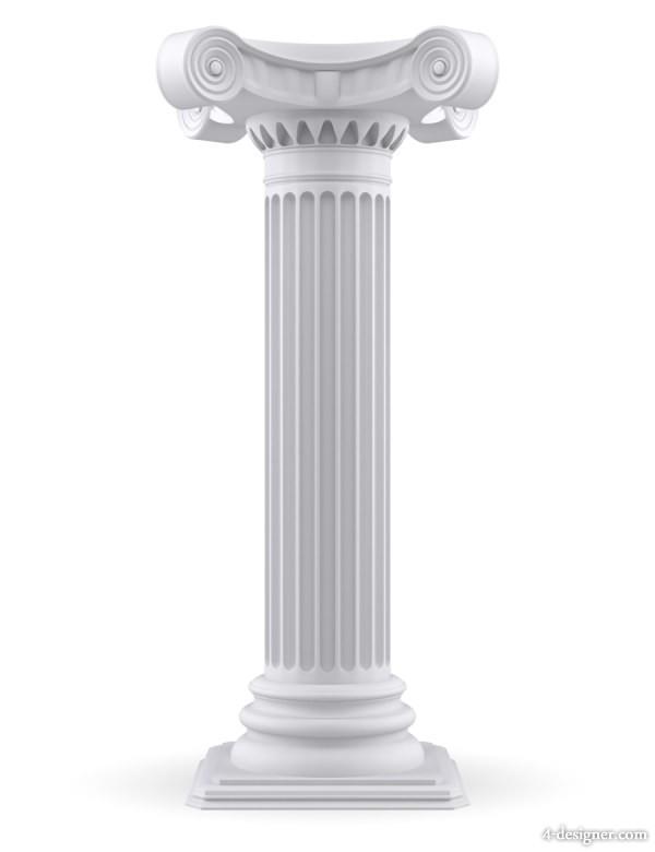 Pillar Clip Art : Four pillars clipart suggest