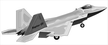 Free F 22 Bw Clipart   Free Clipart Graphics Images And Photos