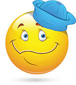 Funny Face With Sailor Cap Smiley   Clipart Graphic