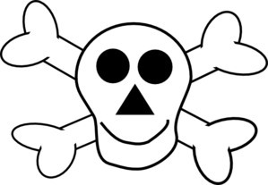 Happy Skull And Crossbones Clip Art At Clker Com   Vector Clip Art