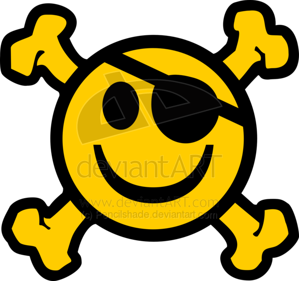 Http   Pencilshade Deviantart Com Art Crossbone Pirate Smiley 86518821