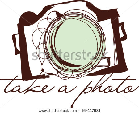 Illustration Take A Photo Clipart Vector Illustration   Stock Vector