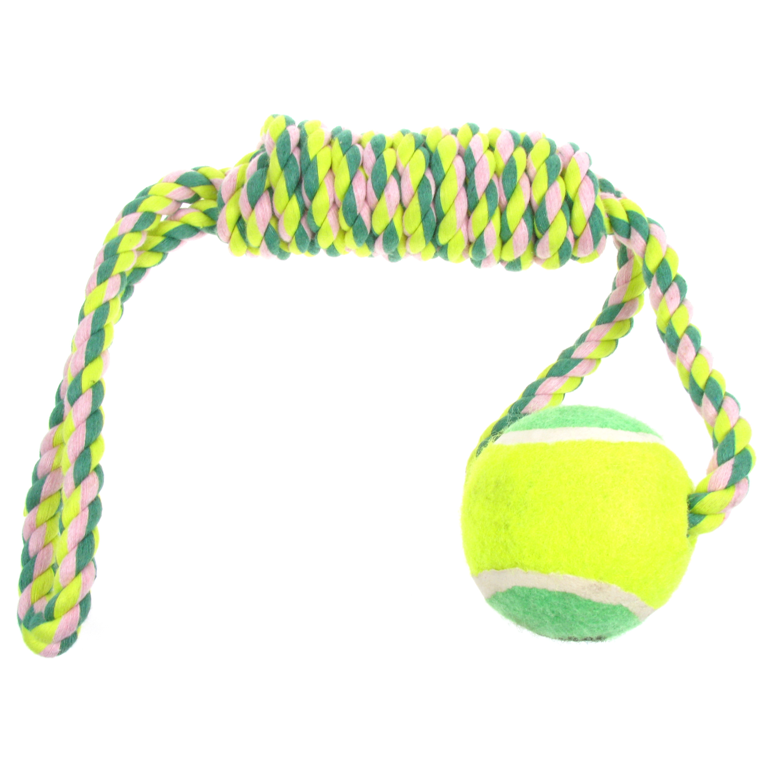 Interactive Rope   Tennis Ball Chew Dog Toy  Green    Animal Zoo