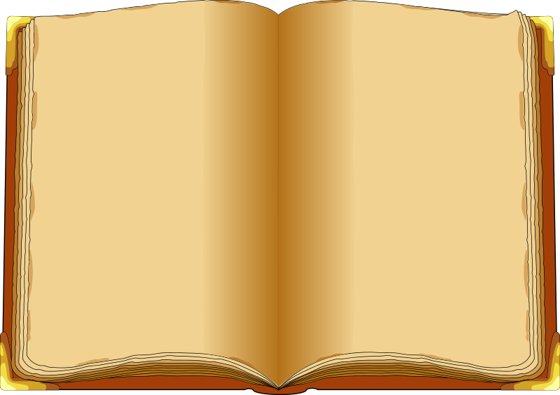 clipart open book blank pages - photo #17