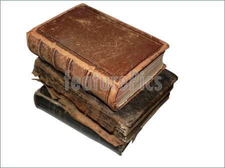 Pics Of Isolated Photo Of Three Antique Books Stacked Up  Clipping