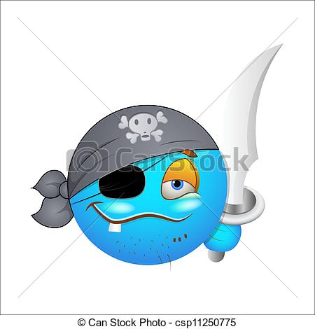 Pirate Smiley Face Clip Art