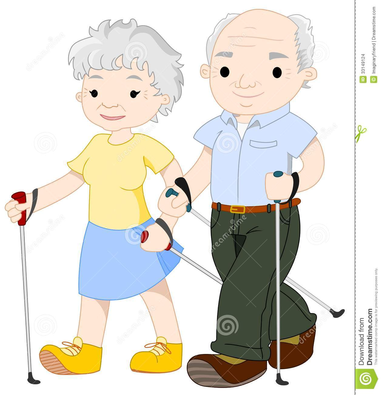 Two Elderly People Nordic Walking Stock Images   Image  33149124