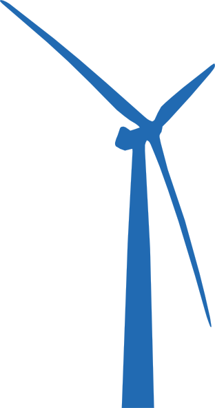 Wind Turbine Blue Clip Art At Clker Com   Vector Clip Art Online