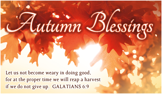 Autumn Blessings Autumn Holidays Ecard   Free Christian Ecards Online