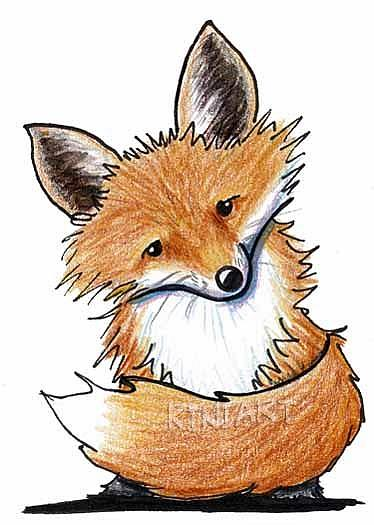 how to draw a red fox for kids