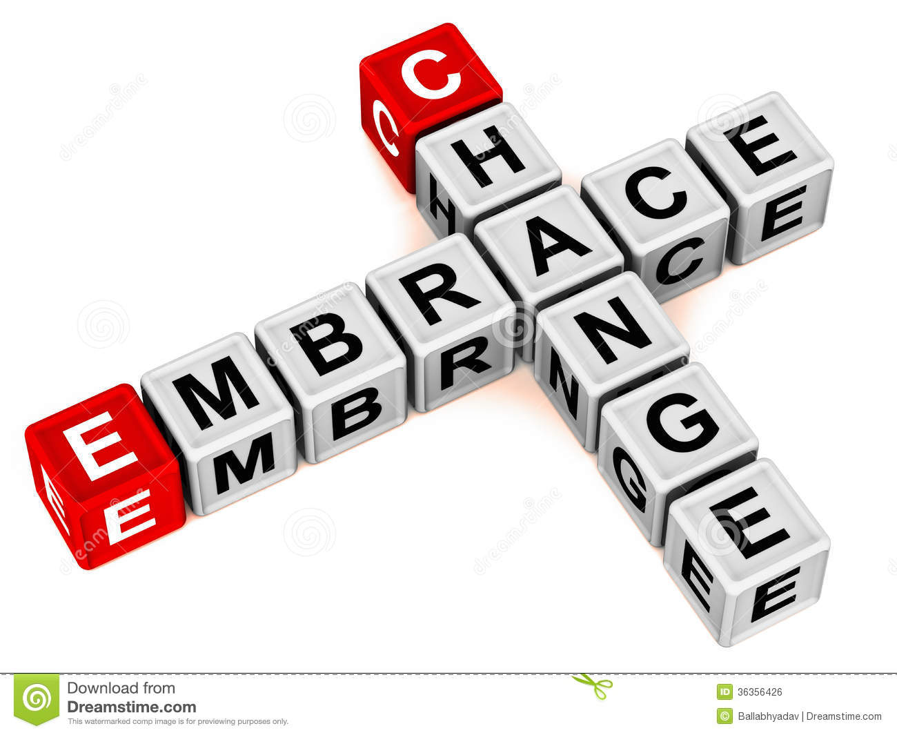 Change Concept Embrace Change In Business And Life Words In Block