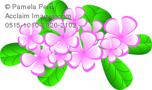 Clip Art Image Of A Tropical Hawaiian Flowers Design Element   Acclaim