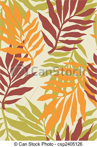 Clip Art Vector Of Seamless Tropical Plant Pattern Csp2405126   Search