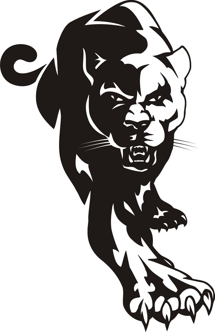 Panther Logo Face Clipart - Clipart Kid