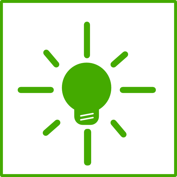 Green Light Bulb Energy Icon Clip Art At Clker Com   Vector Clip Art