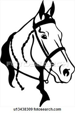 Horse Animal Breeds Horse Head Tack View Large Clip Art Graphic