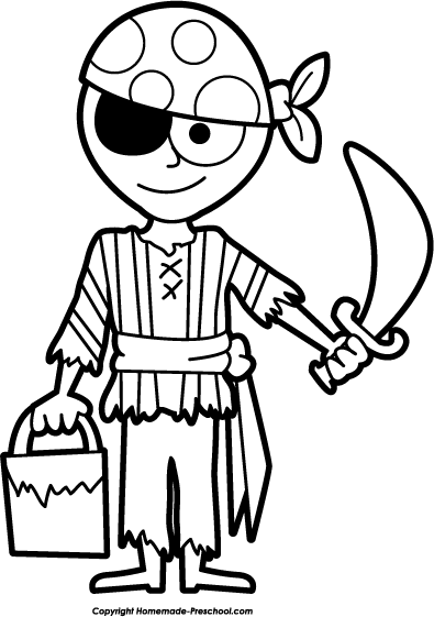 Pirate Clip Art Black And White