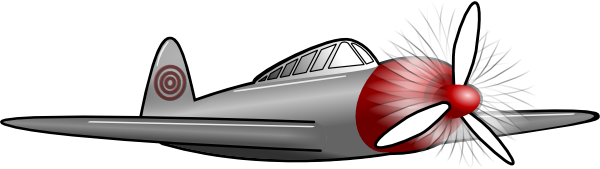 Plane With Front Propeller Clip Art